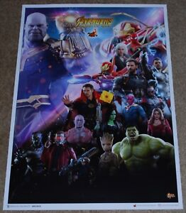 SDCC 2018 EXCLUSIVE SIDESHOW COLLECTIBLES MARVEL AVENGERS INFINITY WARS POSTER