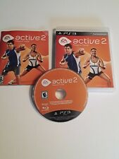 EA Sports Active 2 Personal Trainer Game For Playstation 3 PS3, Case Game Manual