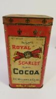 Vintage Royal Scarlet Cocoa Tun R.C. Williams and Co. 16 oz.