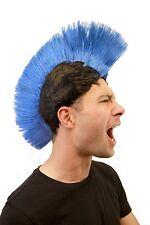 Karneval: Perücke Punk Irokese Iro Anarchie blau/schwarz Punker LM-420-P103/PC3