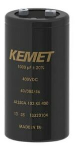 Kemet ALS70 ALUMINUM ELECTROLYTIC CAPACITOR 77x105mm 6200µF 450VDC 37mΩ 22.2A