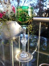 SAINT LOUIS grüner Weinrömer CONGRESS  mit Luftblase ca. 19,5 cm Gold berieben