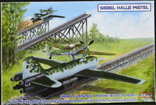 KORA Models 1/72 SIEBEL HALLE MISTEL with RAILWAY ROCKET TROLLEY & TRACK