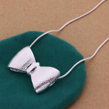 925 Argento Cravatta A Farfalla Collana Ciondolo-UK Venditore -