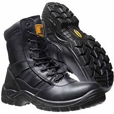 Mens Lightweight Combat Army Police Military Safety Steel Toe Cap Work Boots SZ