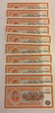 Lot Of 10 X Russia MMM Banknotes. 50 Biletov. Unc. Dated 1994.
