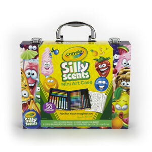 Crayola Silly Scents Mini Art Case 50+Pieces Color Pen Drawing Set Birthday Gift