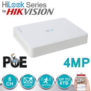 4MP 8CH HIKVISION HILOOK NVR POE DIGITAL NETWORK SECURITY RECORDER NVR-108H-D-8P