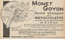 Y8045 MONET & GOYON Grand Champion de la Moto - Pubblicità d'epoca - 1929 Ad