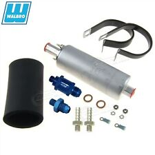GENUINE WALBRO/TI GSL392 255LPH Inline Ext Fuel Pump +6AN Fitting +Check Valve