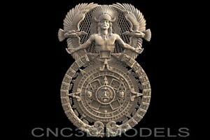 3D STL Models for CNC Router Artcam Aspire Aztec Maya Aztecs Calendar H329