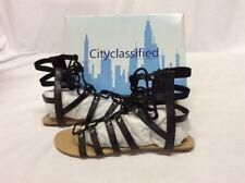 City Classified Women's Swipe Gladiator, Black, 9M