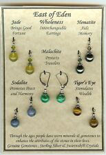 Wholeness Chakra 5 Pair of Interchangeable Gemstone earrings