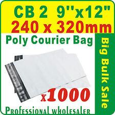 "1000 x CB2 240X320mm(9''X12"") Courier Bag Poly Mailer Satchel Lowest Price Gtee"