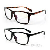 Clear Lens Glasses Rectangle Frame Nerd Geek Retro Vintage Style New