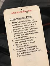 NWT Lululemon Commission Pant Qwick Chino Fabric Lightweight Size 32 34 36 $128