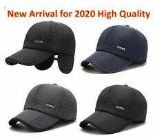 2020 New Warm Mens Winter Baseball Cap Ear Flaps Brand Snapback Thicken Cotton