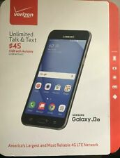 Verizon Samsung Galaxy J3 - 8 GB - Black Prepaid Smartphone SM-J320VLPP NEW