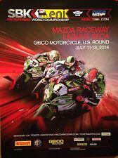 Laguna Seca Geico Motorcycle US Round 2014 Orig. Event 1st on eBay! Car Poster