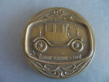 History of Cars 1920 Automobile Detroit Electric 50 mm Bronze Medal / Medallion