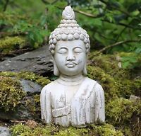 Buddha bust Stone Drift Wood Effect Garden Outdoor Indoor Statue Ornament