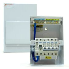 Metal Consumer Unit 80A 30mA RCD Switch 4x MCB Circuit Breakers 6A 10A 16A 32A