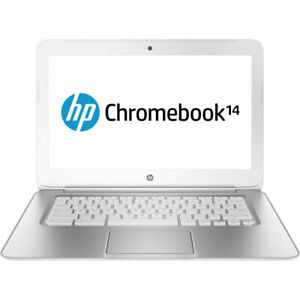 "HP CHROMEBOOK G1 14"" LAPTOP WHITE WITH CHROME OS WEBCAM HDMI CHEAP NOTEBOOK"