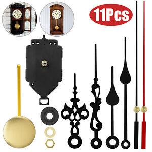 Replacement Quartz Clock Movement Mechanism DIY Repair Kit Tool Parts w/Pendulum