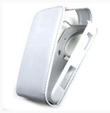 Housse Etui à rabat sur mesure façon cuir blanc pour LG Viewty KU990