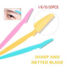 1/6/10/20x Eyebrow Brow Razor Dermaplaning Painless Portable Facial Shaper Tool