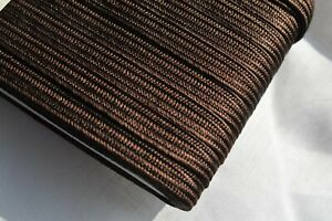 4mm Japanese silk tsuka-ito, dark brown