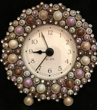 Absolutely Stunning Austrian Crystal Covered Clock by Girasol /Two's Company