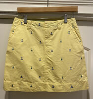 Lilly Pulitzer yellow skirt with blue anchors ⚓️- Girls Size 16 -