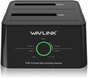 Wavlink USB 3.0 to SATA I/II/III Dual-Bay External Hard Drive Docking Station