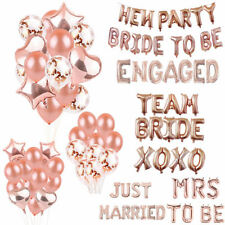 Hen Do Party Mrs Bride To Be Rose Gold Balloons banner Hen's Night Wedding Party