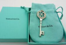 Tiffany & Co Silver Lg. Blossom Daisy Diamond Key Pendant Large size