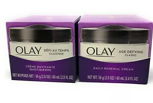 Olay Age Defying Classic Daily Renewal Cream 56g (2.0 Oz) New In Box  Lot Of 2