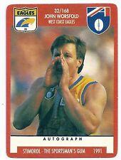 "1991 Stimorol (32) John WORSFOLD West Coast "" """
