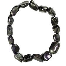 Elite Shungite Bracelet 12-15 Stones Beads Stretchy Radiation Karelia Reiki Heal