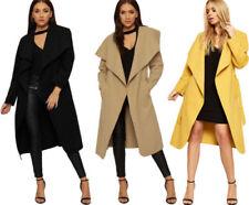 Cappotti e giacche da donna marrone nessuna fantasia in poliestere