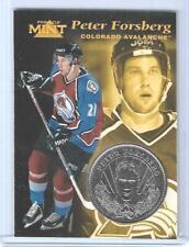 RARE 1996-97 PINNACLE MINT PETER FORSBERG SILVER / NICKEL COIN & CARD #6