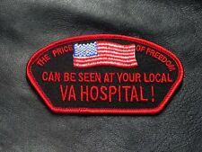 Price of Freedom Can Be Seen at Your Local VA Hospital POW IRON ON PATCH