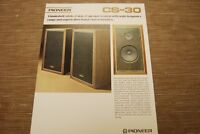 Pioneer CS-30 Speaker System Original Catalogue