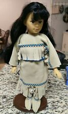 Native American Doll 12in Vinyl 1995 Unimax Toys Of The World Edition w Stand