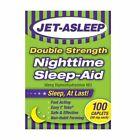 Jet-Asleep Double Strength Nighttime Sleep-Aid 50 mg 100Caplets Diphenhydramine