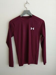 Under Armour heatgear compression long sleeve top red Womens size M