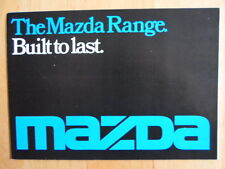MAZDA RANGE orig 1976 UK Mkt Sales Brochure - 1000 1300 616 818 929 B1600 Pickup