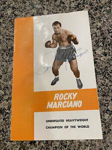 Rocky Marciano RARE Signed Program PSA AB02343