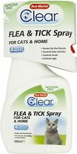Bob Martin Clear Flea and Tick Spray for Cats Home - 300ml