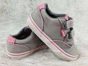 VANS Child Toddler Gray Pink Sneakers Size 7 Toddler